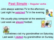 English powerpoint: Past simple of regular verbs