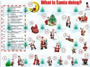 English powerpoint: What is Santa doing?
