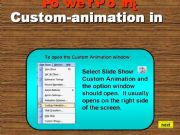 English powerpoint: custom animation in PowerPoint