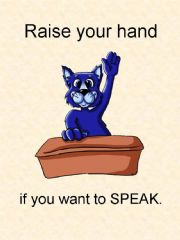 English powerpoint: Raise your hand if you want to speak