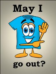 English powerpoint: May I go out?