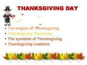 English powerpoint: Thanksgiving Day in the USA