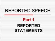English powerpoint: Rules and practice on the Reported Speech