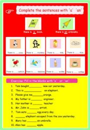 English powerpoint: article  A , AN