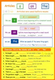 English powerpoint: Article A  AN  THE