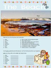 English powerpoint: The Beach