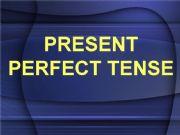 English powerpoint: present perfect tense
