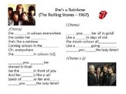 English powerpoint: She´s a rainbow (The Rolling Stones)