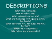 English powerpoint: How to write descriptions (part 1)