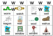 English powerpoint: w workcard