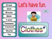 English powerpoint: Clothes