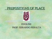 English powerpoint: prepositions of place