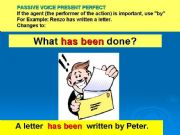English powerpoint: PASSIVE VOICE PRESENTE PERFECT PART 2