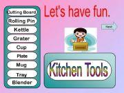 English powerpoint: Game - Kitchen Tools