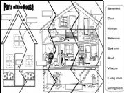 English powerpoint: Puzzle Parts of the House
