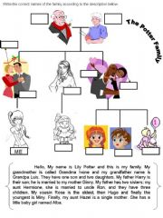 English powerpoint: The Family Description