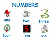 English powerpoint: numbers from one to twelve