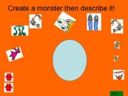 English powerpoint: Create a monster -game