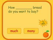 English powerpoint: Test on much - many