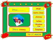 English powerpoint: Festivals - CHRISTMAS vocabulary game part 3