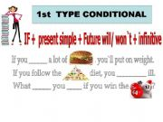 English powerpoint: FIRSTTYPE CONDITIONAL