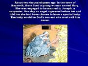English powerpoint: The Christmas Story, the birth of Jesus