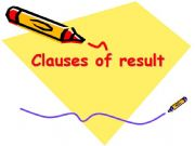 English powerpoint: Clauses of result