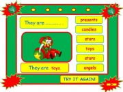 English powerpoint: Festivals - CHRISTMAS vocabulary game part 5