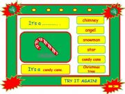English powerpoint: Festivals - CHRISTMAS vocabulary game part 6
