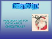 English powerpoint: How much do you know about christmas?