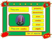 English powerpoint: Festivals - CHRISTMAS vocabulary game part 8