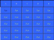 English powerpoint: Subject questions jeopardy