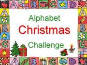 English powerpoint: Alphabet Christmas Challenge