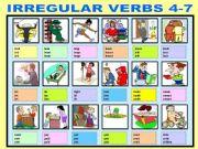 English powerpoint: IRREGULAR VERBS 4-7