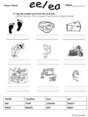 ESL - English PowerPoints: Long e- ea/ee (2)
