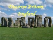 English powerpoint: Discover England - part 1
