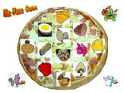 English powerpoint: The Pizza Game: Printable set of 20 different layouts.