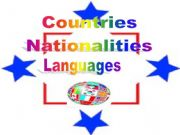 English powerpoint: Countries/nationalities/languages