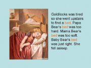 English powerpoint: Goldilocks and the three Bears (2)