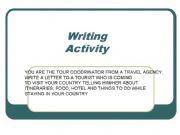 English powerpoint: writing practice