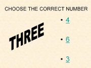 English powerpoint: Game: Choose the correct number