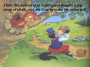 English powerpoint: The wolf and the seven little goats ppt 6