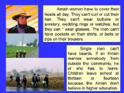 English powerpoint: The Amish - part 2