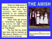 English powerpoint: The Amish -. part 1