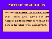 English powerpoint: Present Continuous tense