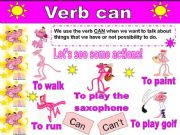 English powerpoint: Verb Can With the Pink Panther