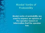 English powerpoint: Modals