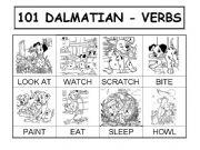 English powerpoint: 101 DALMATIAN - VERBS