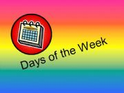 English powerpoint: Days of the Week
