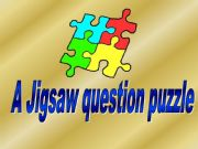 English powerpoint: Question game made as a jigsaw - template